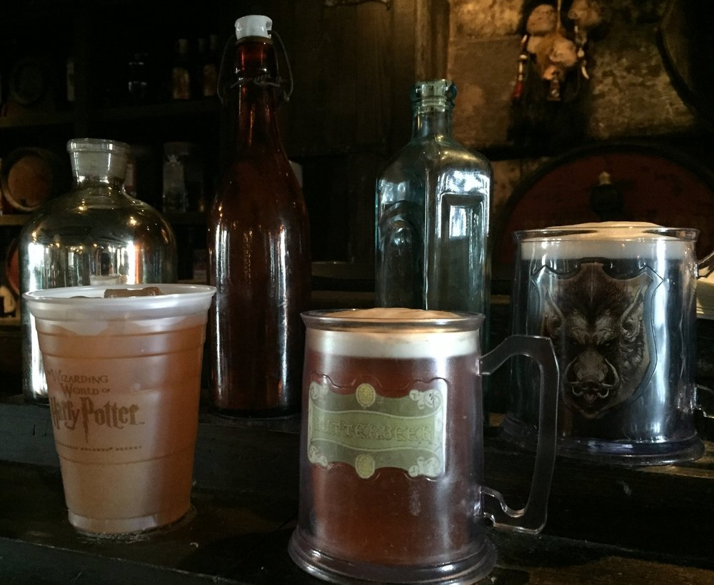 You can purchase your drinks in a souvenir mug at the Hog's Head.