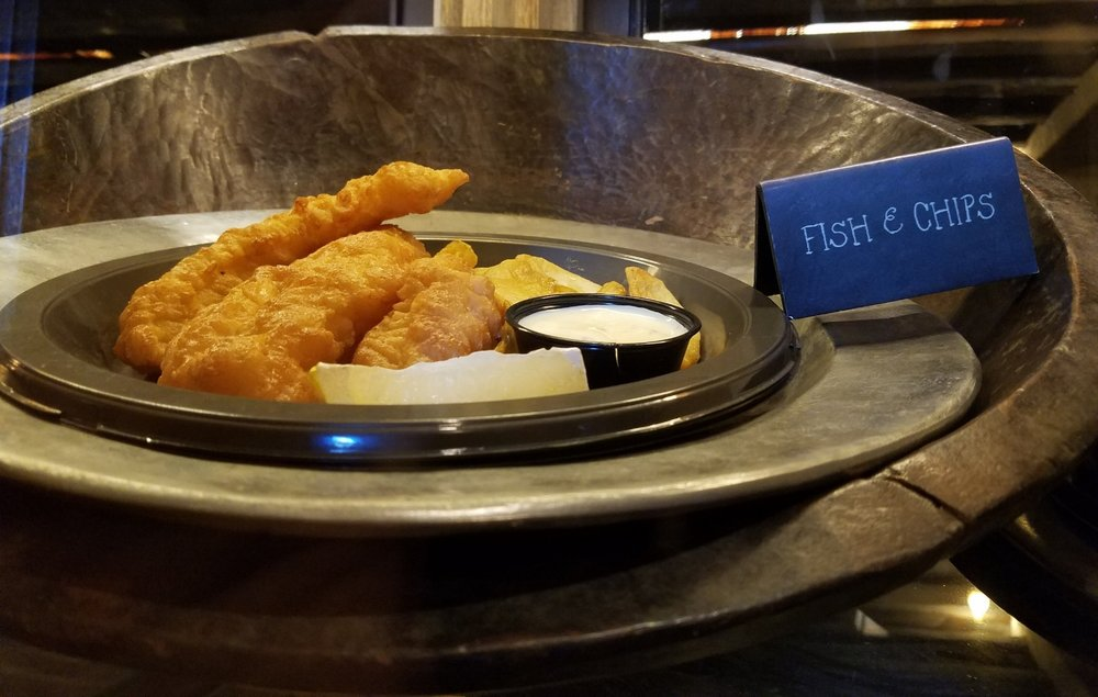 Fish and Chips at Leaky Cauldron