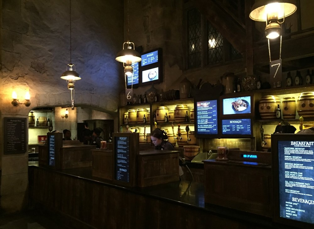 Leaky Cauldron Counter Where You Order Food