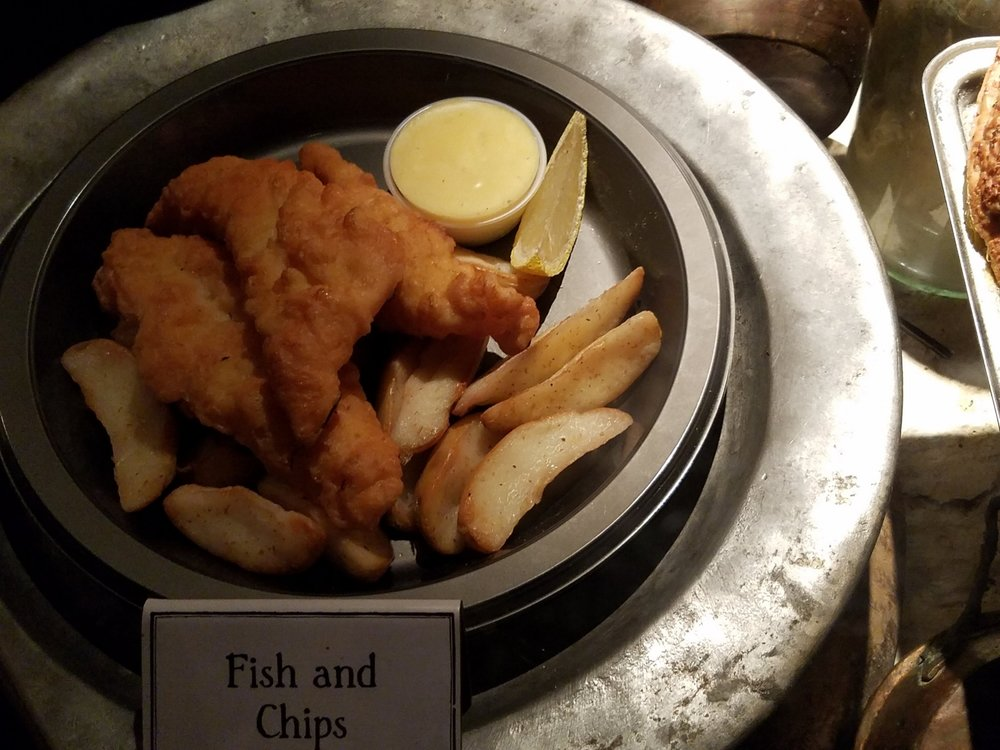 Fish and Chips at the Three Broomsticks