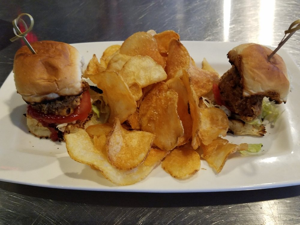 Southern Fried Sliders from NBC Sports Grill and Brew.