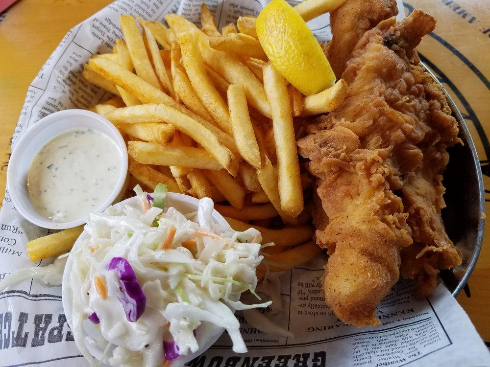Captain's Fish and Chips with French Fries and Coleslaw from Bubba Gump Shrimp Co.