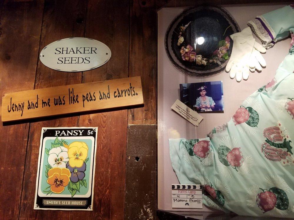 The Bubba Gump Shrimp Co. has Forrest Gump themed decor and movie memorabilia.