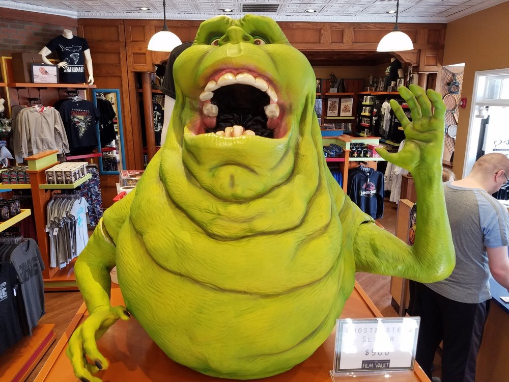 Slimer from the Ghostbusters franchise is for sale in The Film Vault for $900.