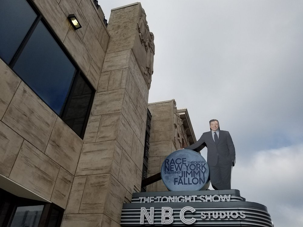 Technical rehearsals for Race Through New York Starring Jimmy Fallon began at the beginning of March.