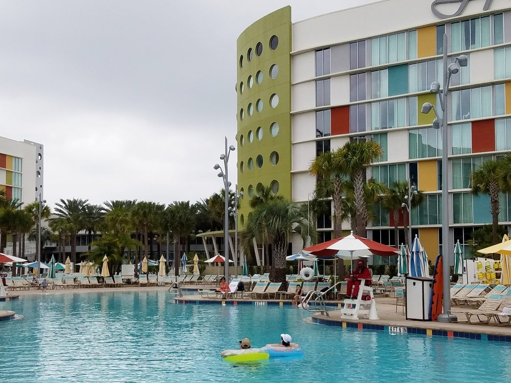 The Lazy River pool is a 6,000 square foot zero-entry pool with a white sand beach.