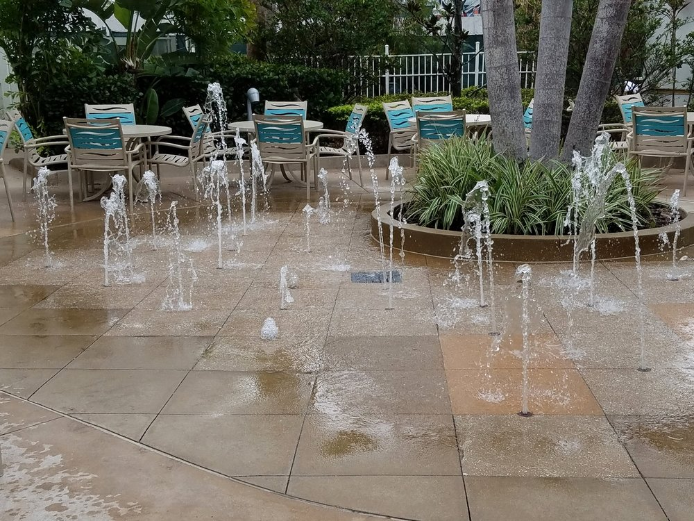 The kids' splash pad by the Lazy River pool is not as cool and interactive as the one at the Courtyard Pool.