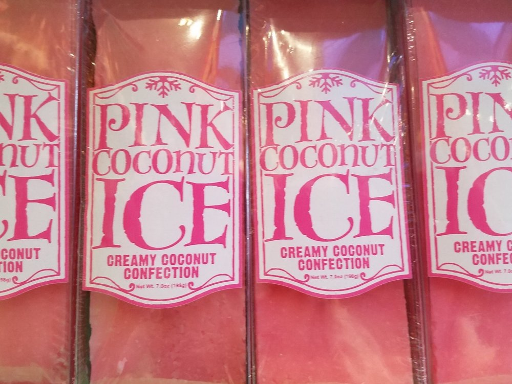 Pink Coconut Ice from Honeydukes