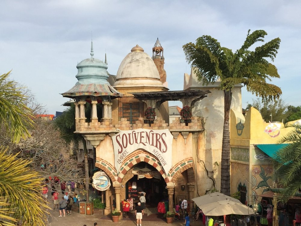 The Islands of AdventureTrading Company store in Port of Entry in Islands of Adventure.