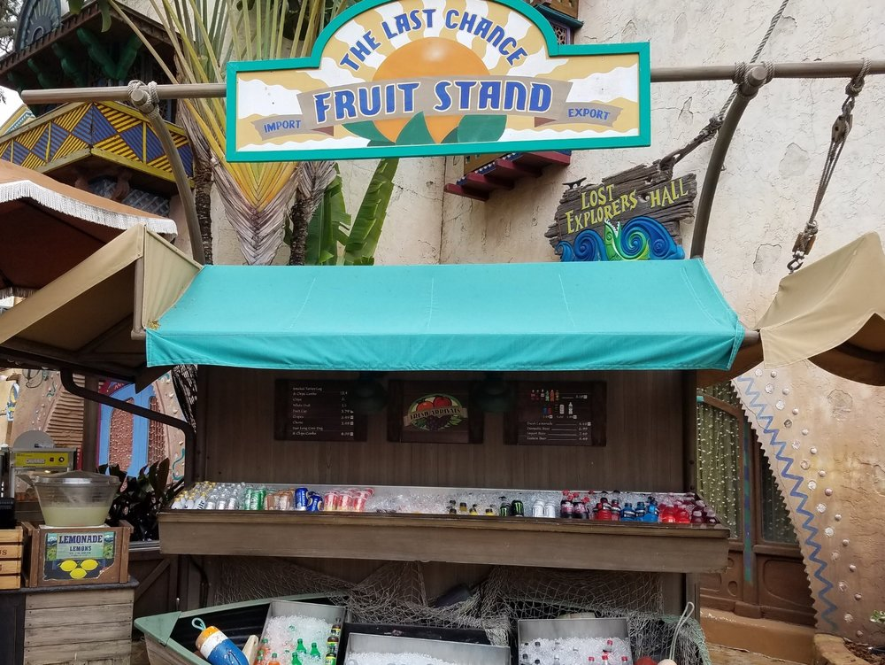 The Last Chance Fruit Stand in Port of Entry in Islands of Adventure.
