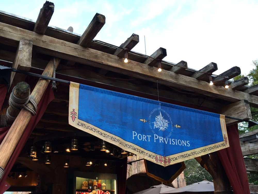 Port Provisions in Port of Entry in Islands of Adventure.