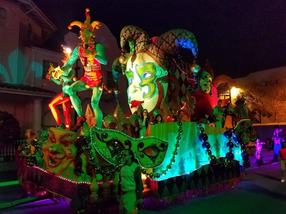 Rio de Janeiro Carnival Float (front view) at Universal Mardi Gras 2017
