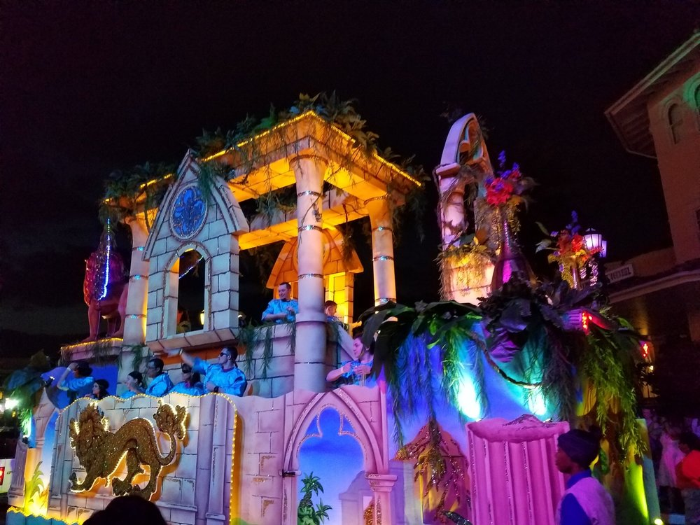 Manticore's Majesty Float (back view) at Universal Mardi Gras 2017