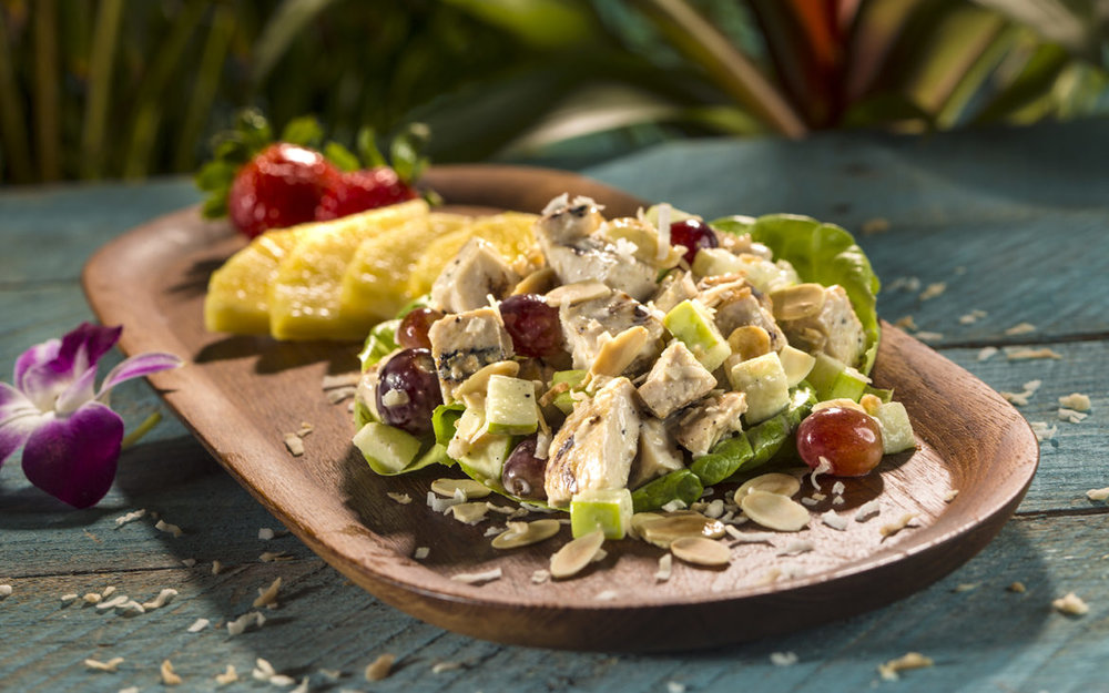 Island Chicken Salad is on the Bambu menu. Image credit: Universal Orlando Resort.