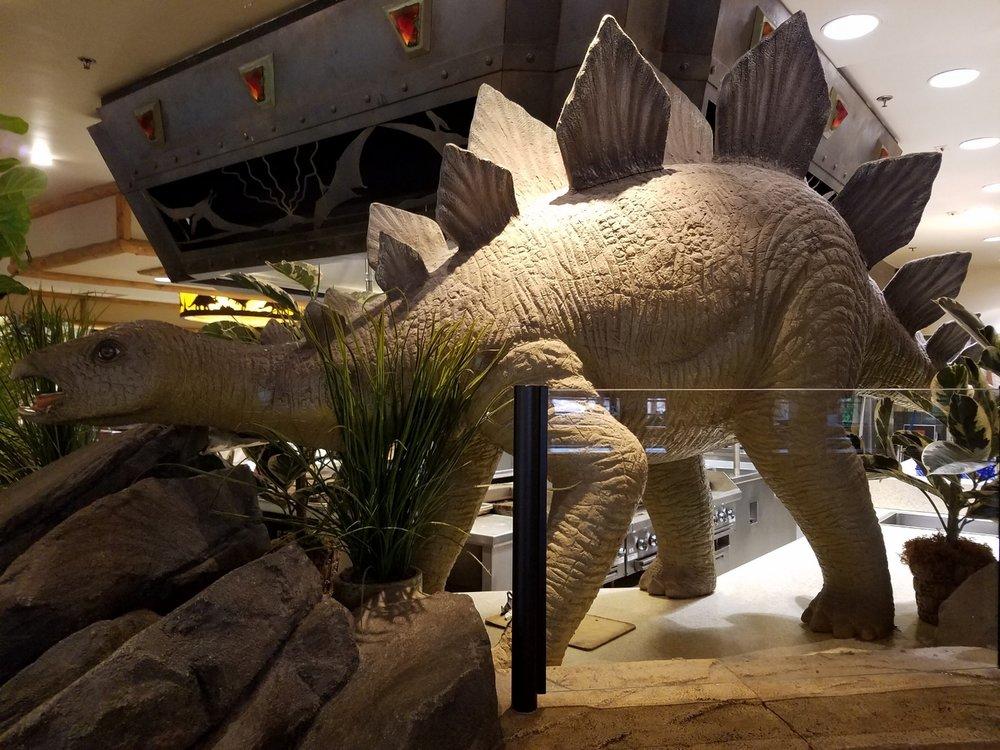 Dinosaur inside Thunder Falls Terrace.