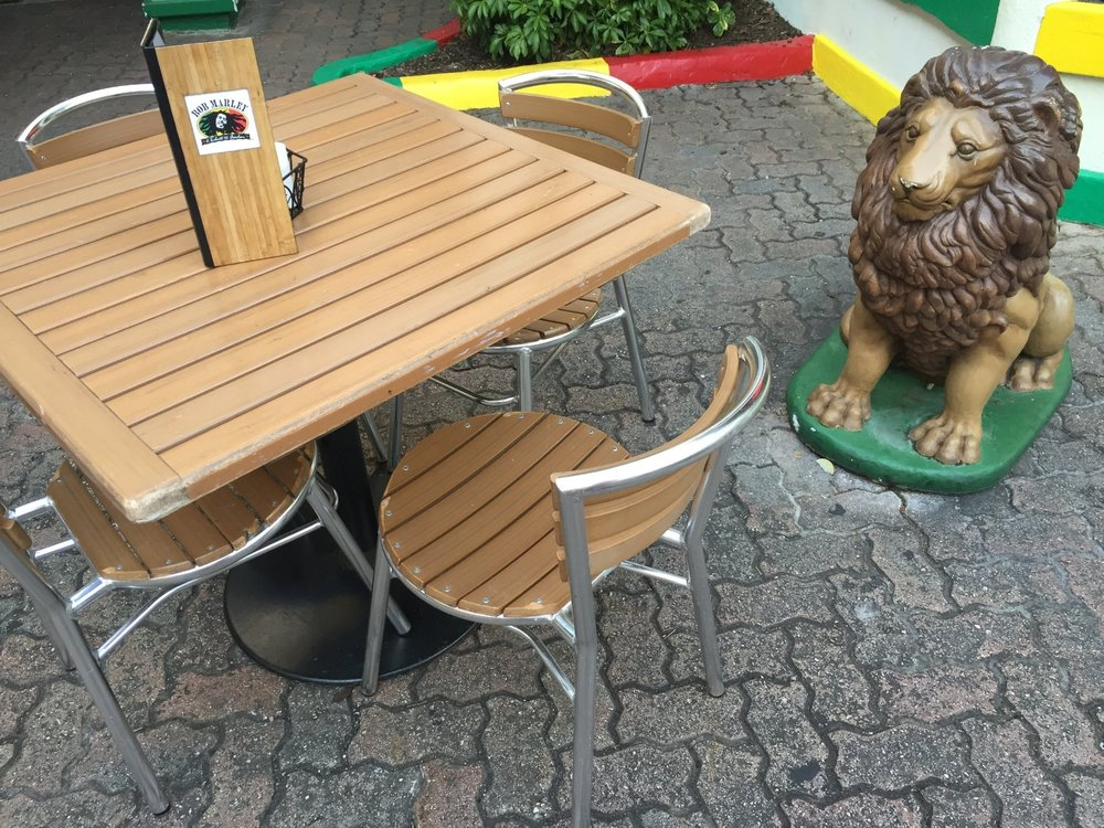 Courtyard table in Bob Marley - A Tribute to Freedom.