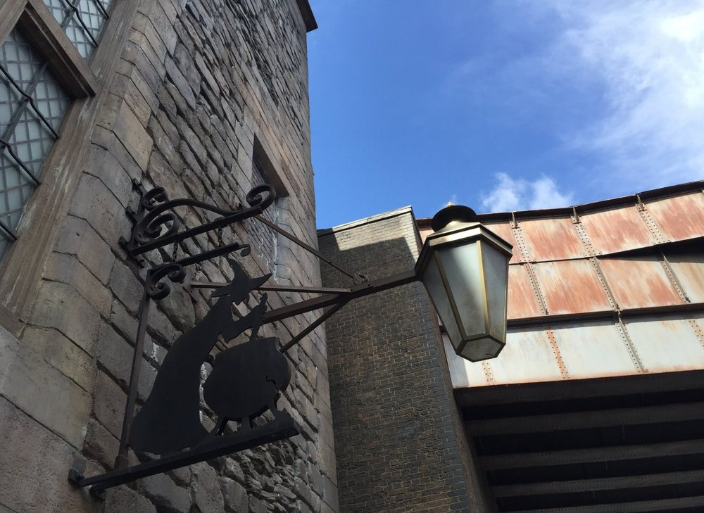 The Leaky Cauldron in Diagon Alley.
