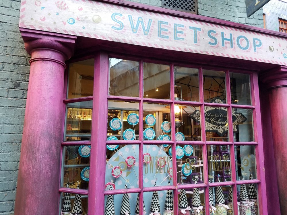 Sugarplum's Sweet Shop in Diagon Alley.