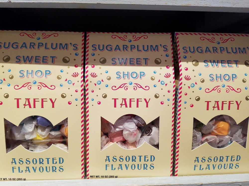 Taffy at Sugarplum's Sweet Shop.