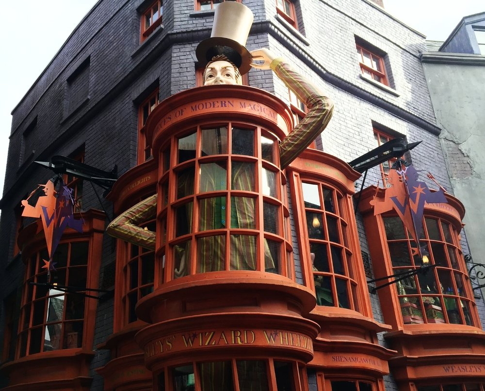 Weasley's Wizard Wheezes in Diagon Alley.
