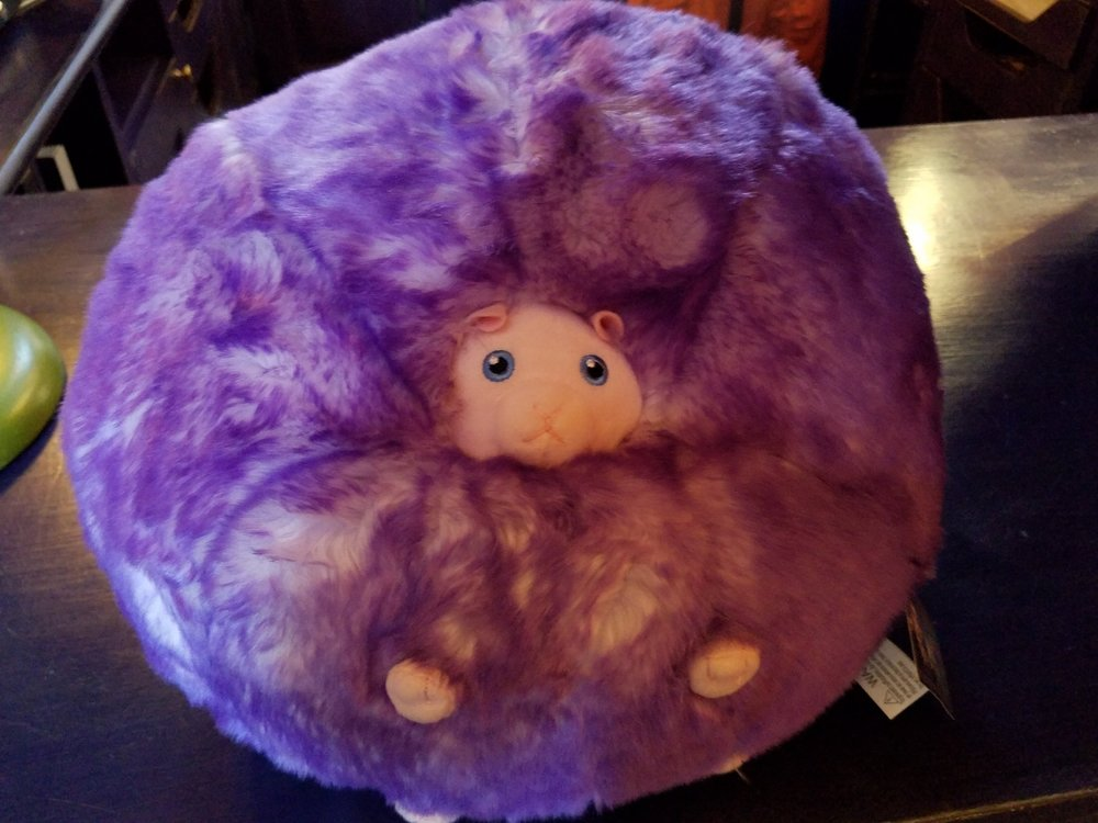 Large Pygmy Puff for sale at Weasley's Wizard Wheezes.