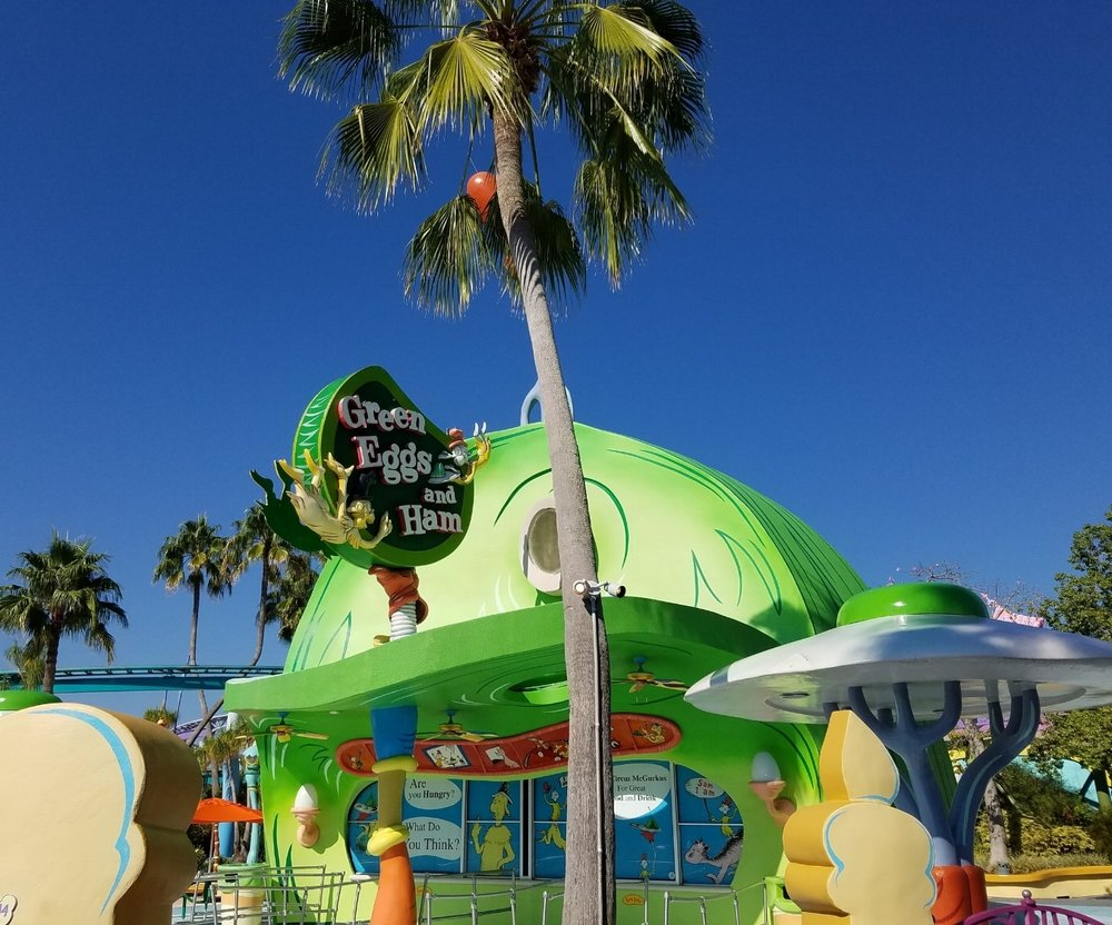 The Green Eggs and Ham Cafe in Seuss Landing