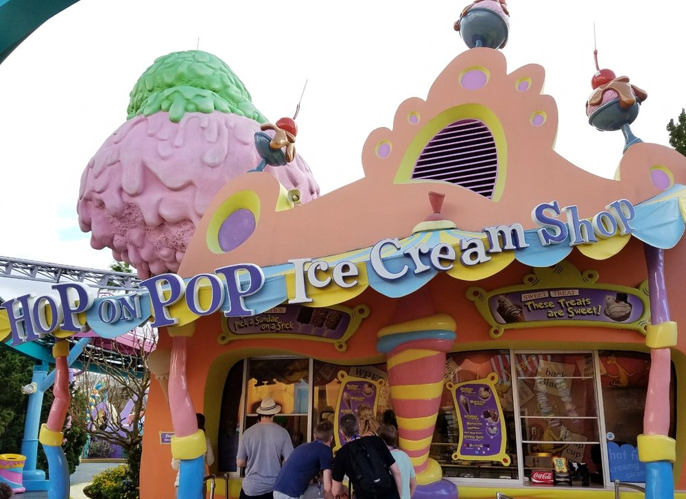 The Hop on Pop Ice Cream Shop in Seuss Landing