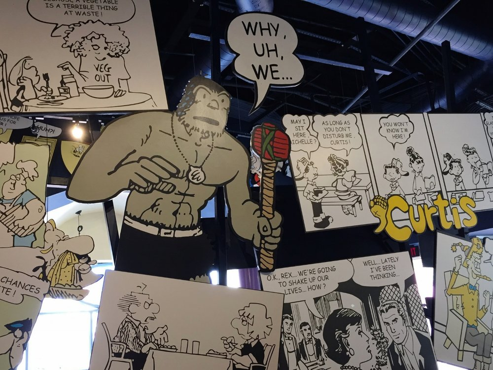 Comic strips in Comic Strip Cafe