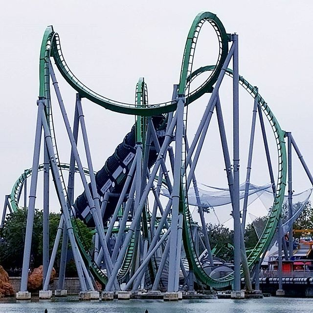 Who needs coffee? The launch on Hulk is the way to wake up. #RollerCoaster #UniversalMoments