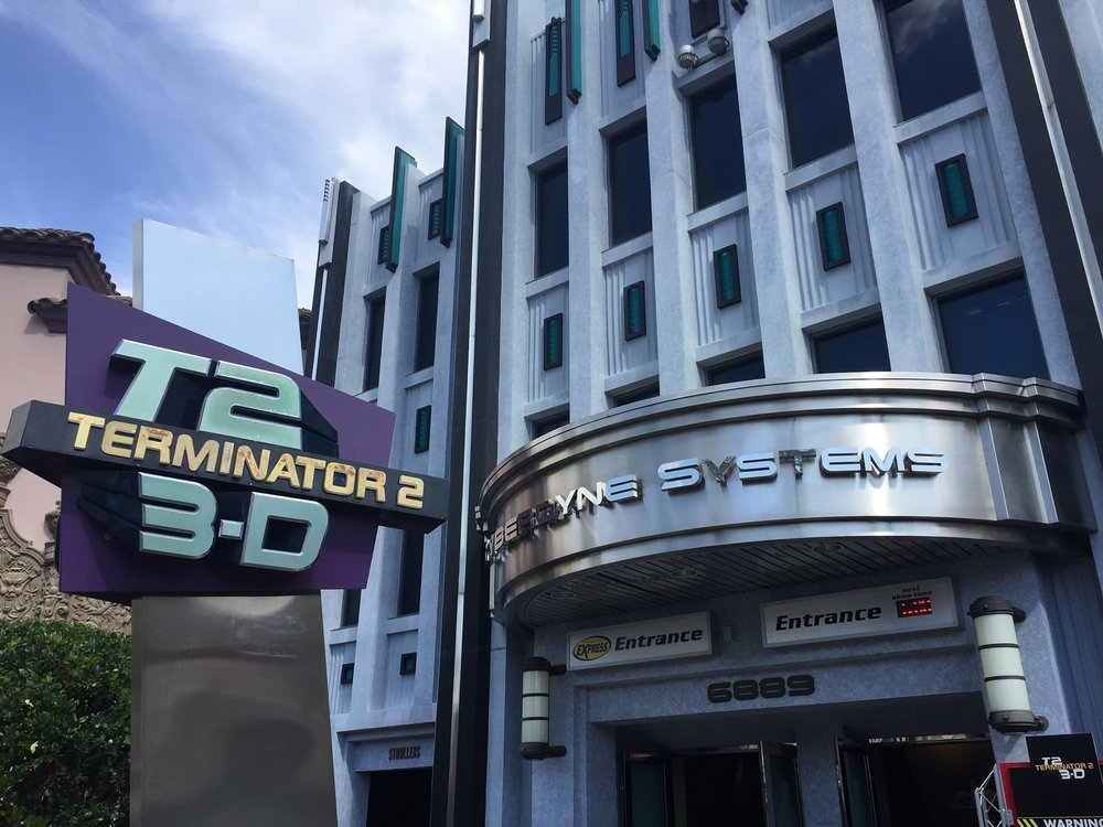 Terminator 2: 3-D entrance in Universal Studios Florida.