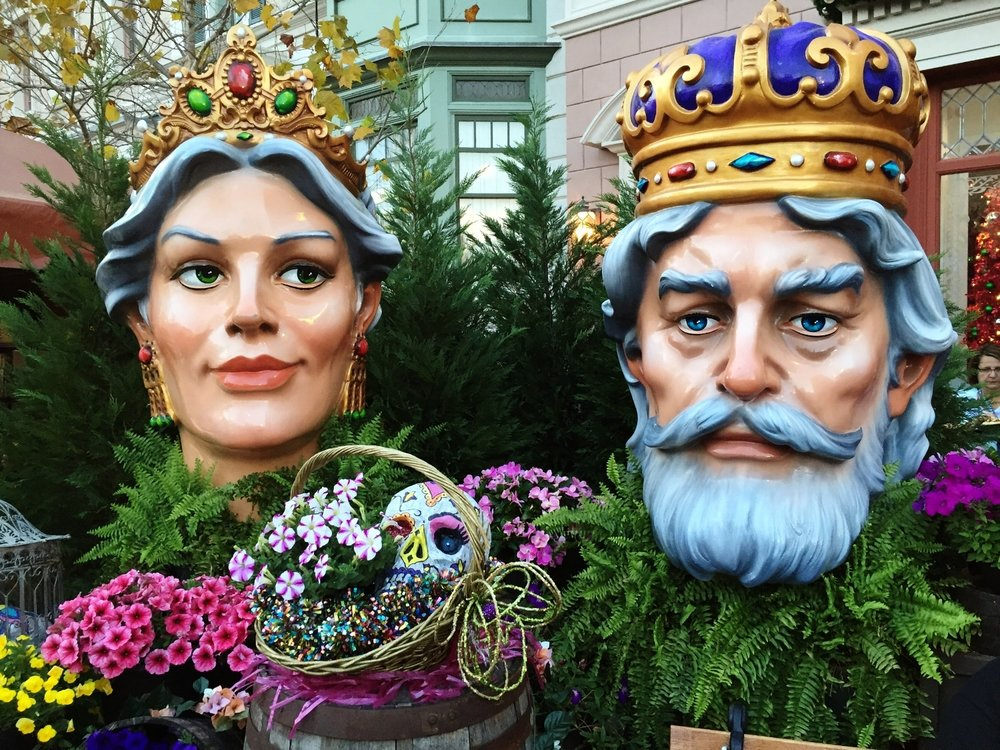 Mardi Gras King and Queen at Universal Studios Florida.
