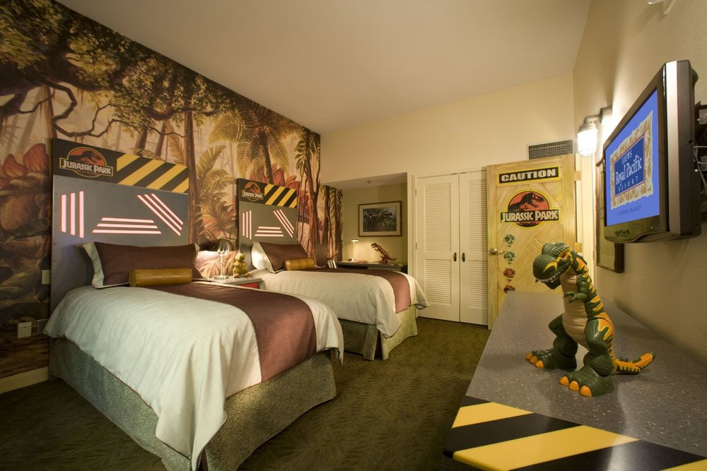 Jurassic Park Kids Suite at Loews Royal Pacific Resort. Copyright Universal Orlando Resort. All rights reserved.