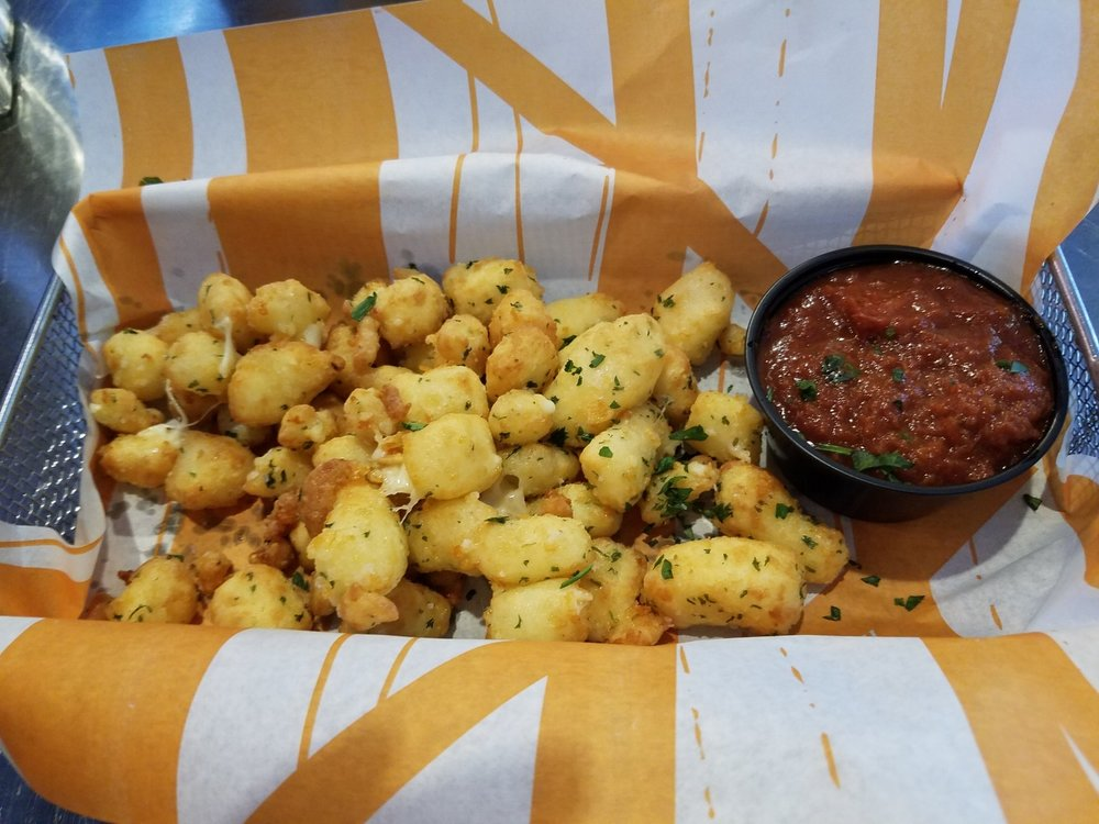 Wisconsin Fried Cheese Bites from NBC Sports Grill and Brew