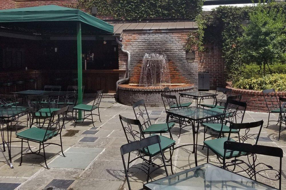 The outdoor patio at Pat O'Brien's in Universal CityWalk Orlando.