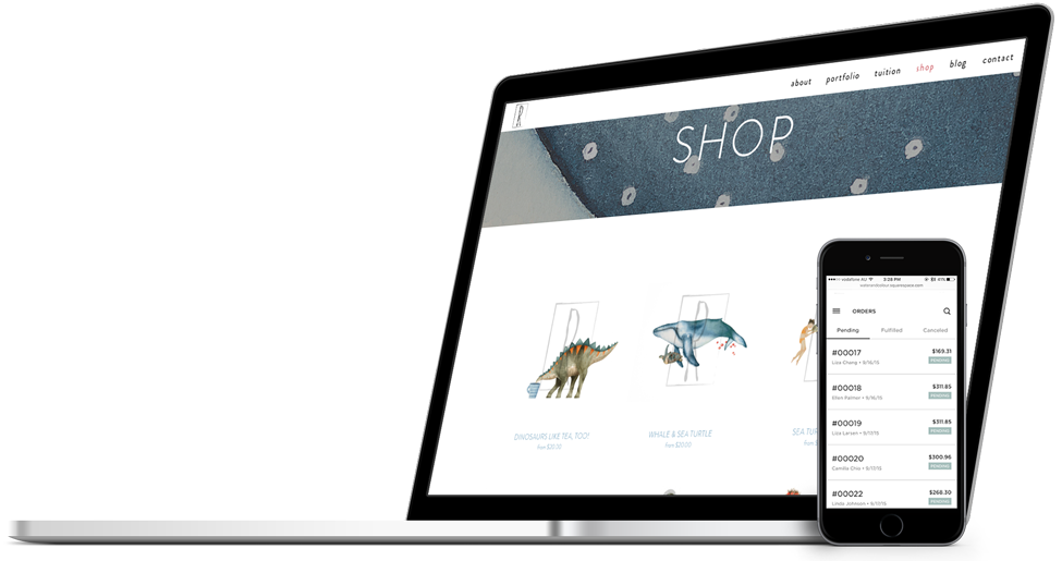 E-commerce Web Design for Water and Colour