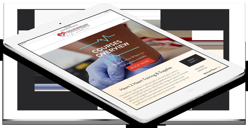 Responsive Web Design for Heart 2 Heart Training & Supplies