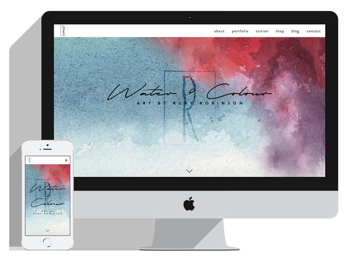 Responsive Website for Water & Colour