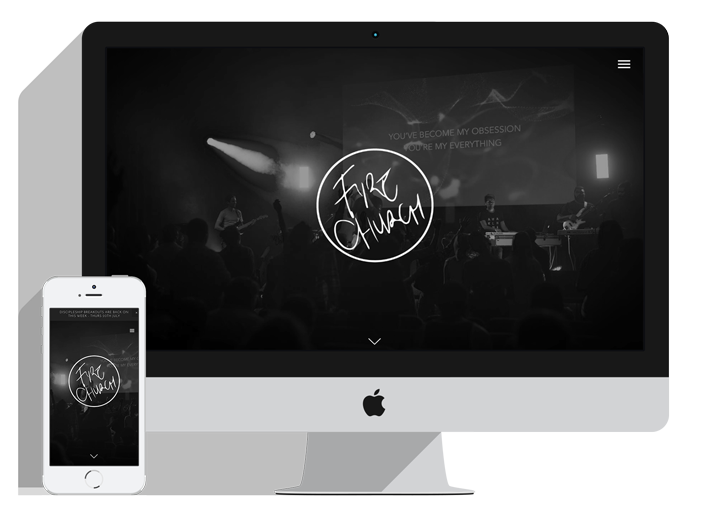 Responsive Website for Non-Profit Fire Church