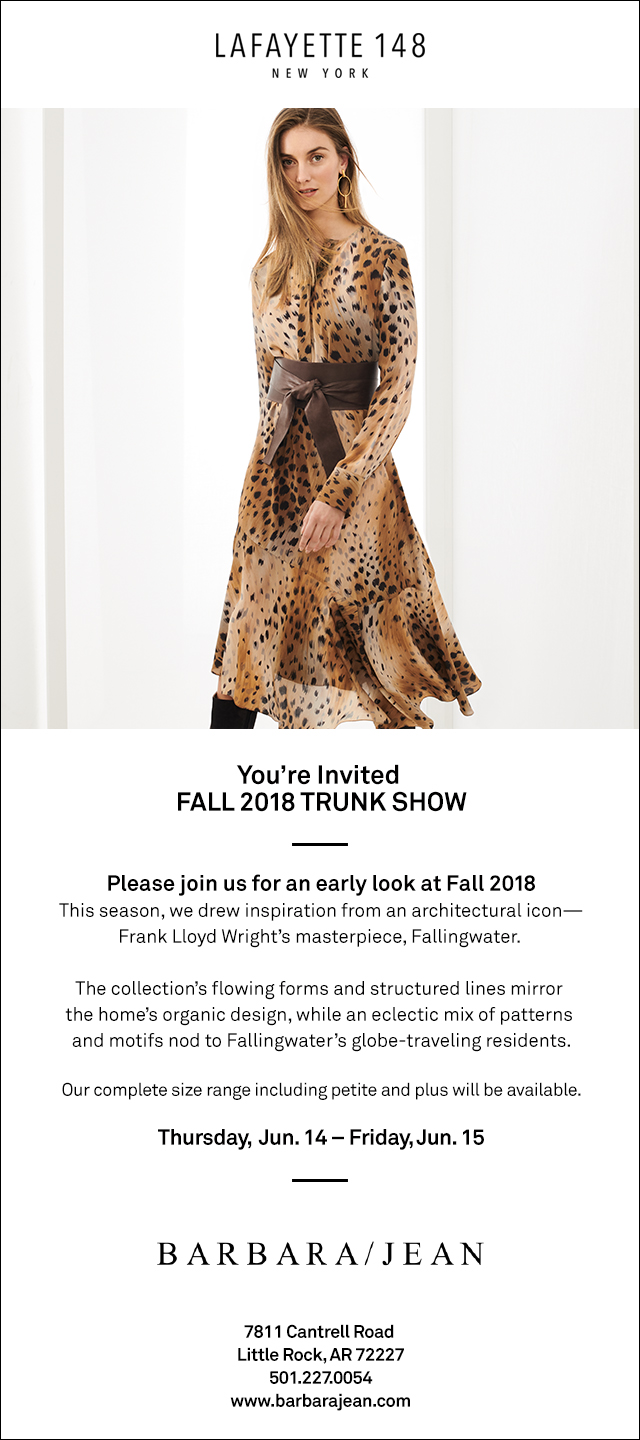Lafayette 148 New York Trunk Show - Little Rock, Arkansas