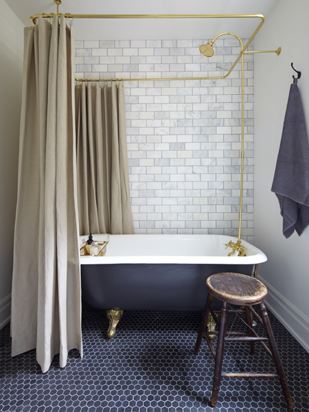 Source:  Apartment Therapy /  Mandy's Handsome Bath Reno