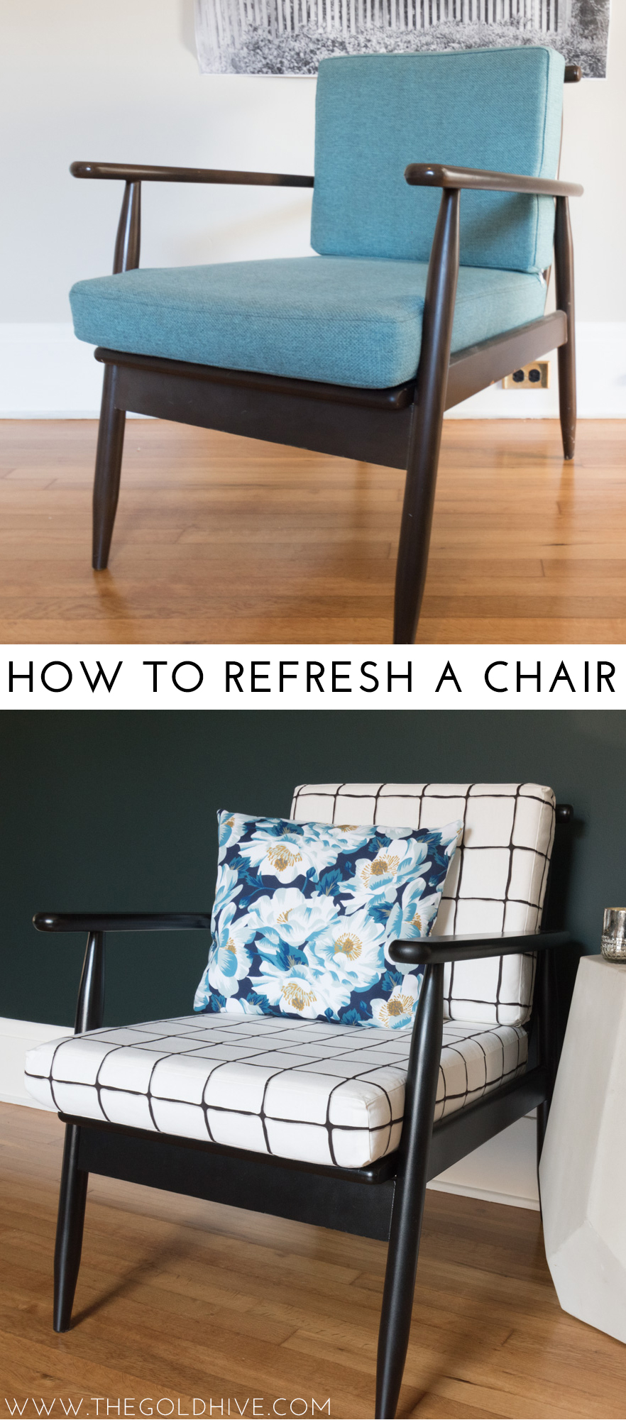 How to refresh a chair - The Gold Hive