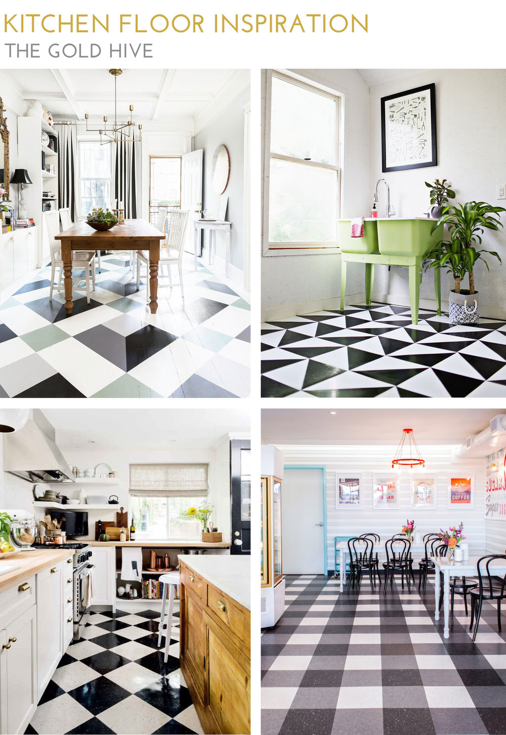 The Gold Hive Graphic Flooring Inspiration