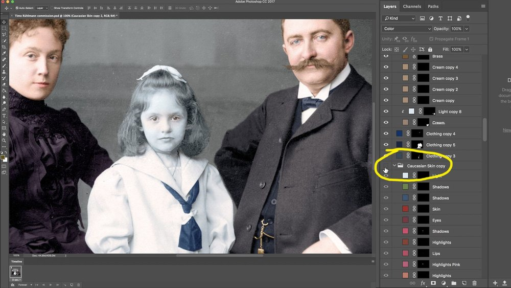 Colorized Old Photo