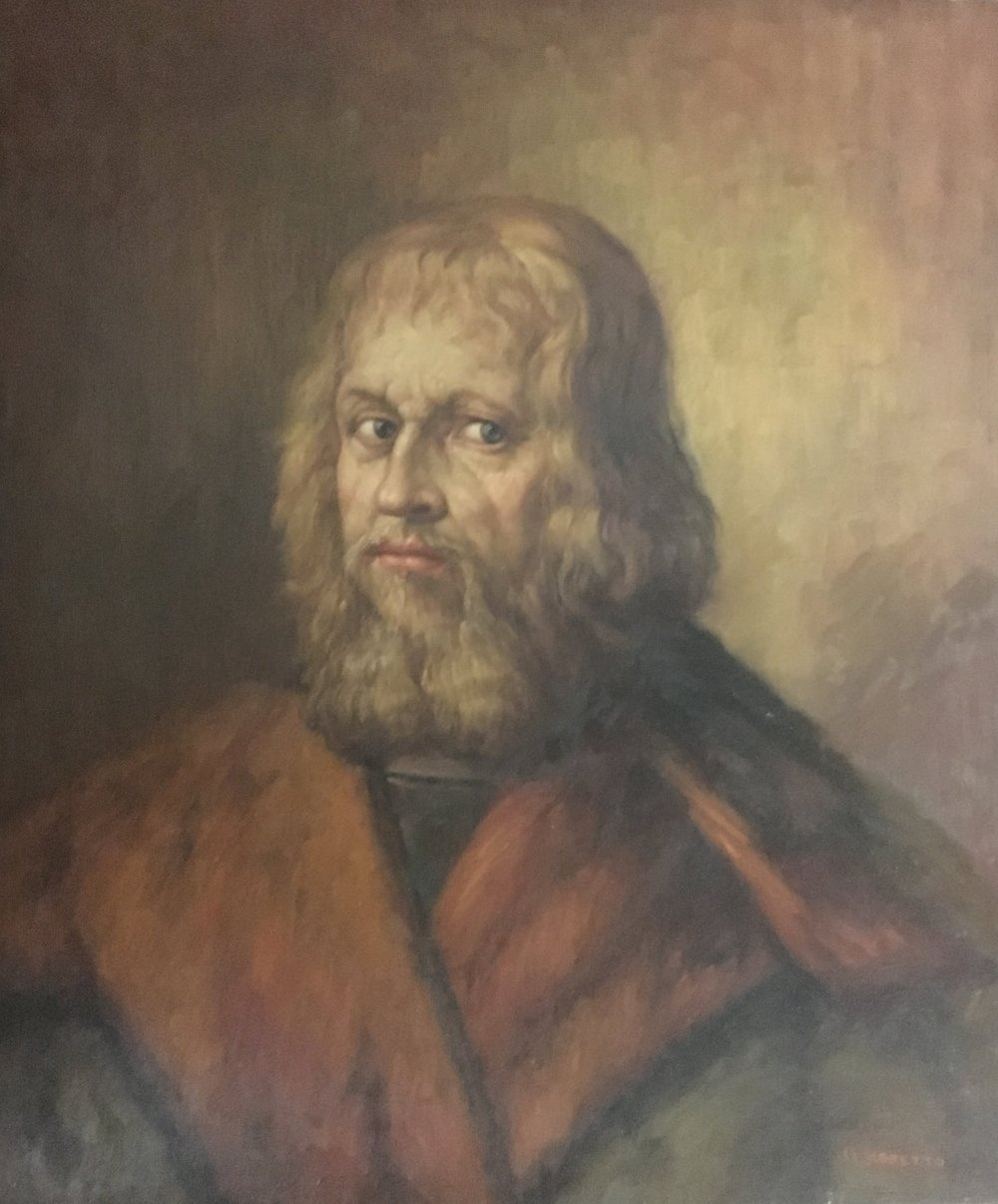 Vintage Painting of A Bearded Man