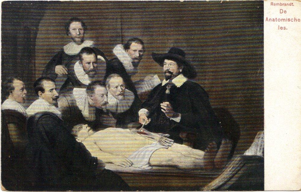 Rembrandt De Anatomische Les - Anatomy Lesson of Dr Tulp -Dutch Vintage Postcard