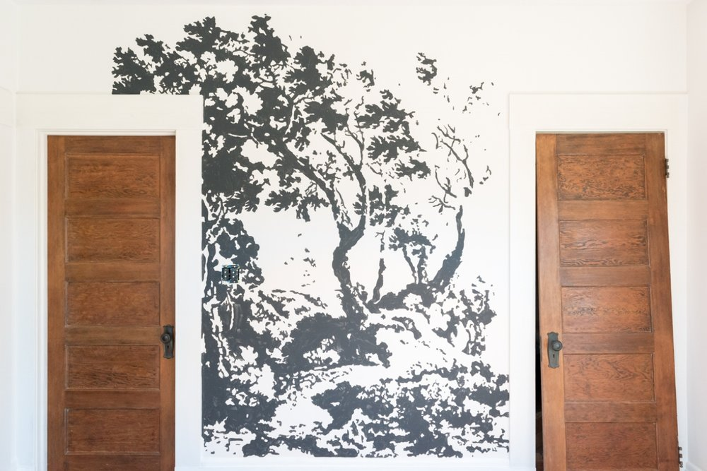 Painting a mural with layers farrow and ball paint