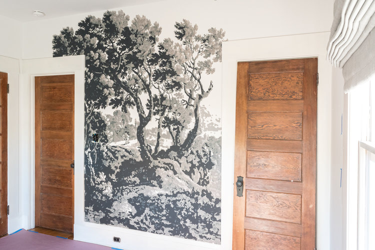 One Room Challenge Week 4 Painting a Foliage Filled Wall Mural
