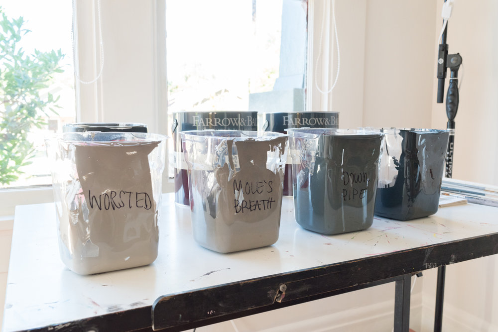 HANDy Paint Pail and liners for organizing paint colors