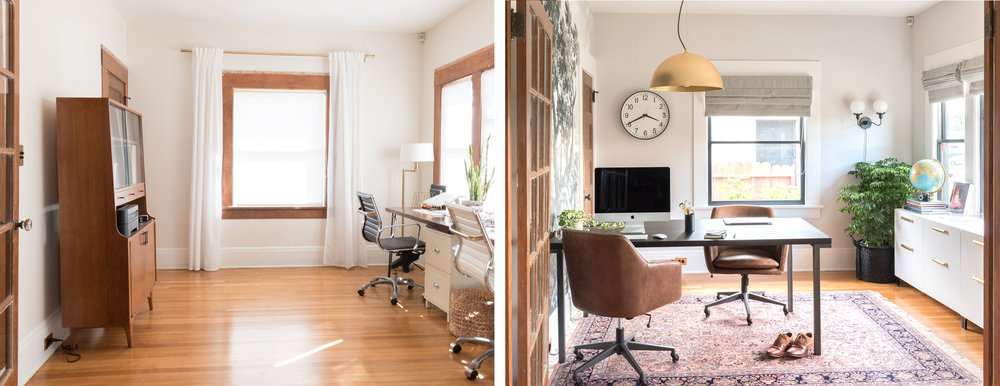 Ashley Goldman The Gold Hive blog One Room Challenge Home Love Network Home Office Before and After