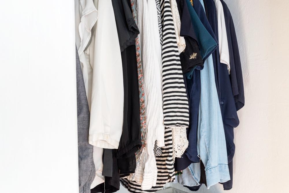 KonMari Style closet organizing
